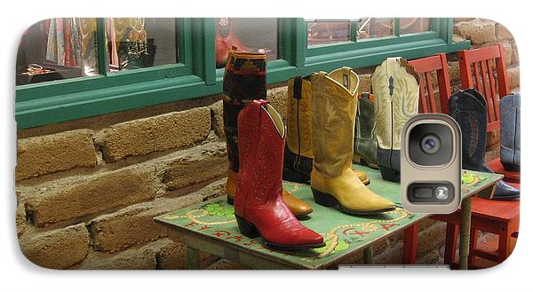 Galaxy Case featuring the photograph Cowboy Boots by Dora Sofia Caputo Photographic Art and Design