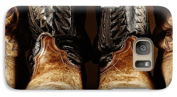 Galaxy Case featuring the photograph Cowboy Boots In High Contrast Light by Lincoln Rogers