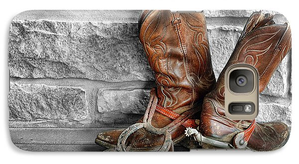 Galaxy Case featuring the photograph Cowboy Boots by Sami Martin