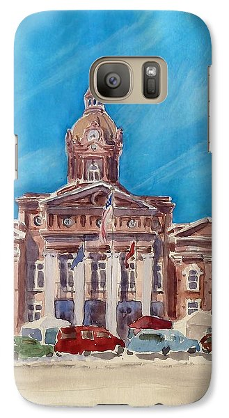 Galaxy Case featuring the painting Coweta County Courthouse Painting by Sally Simon