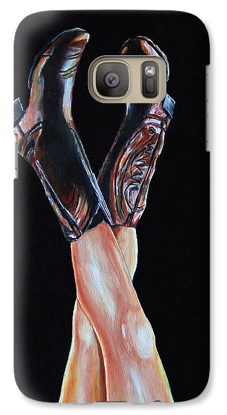 Galaxy Case featuring the painting Cowgirl Legs by Jennifer Godshalk
