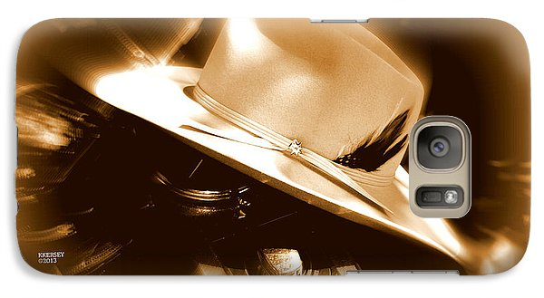 Galaxy Case featuring the photograph Cowgirls And Harley by Karen Kersey