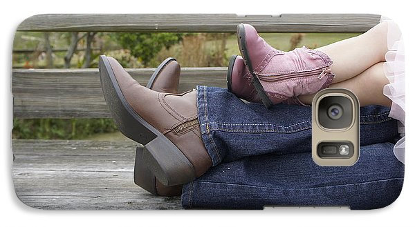 Galaxy Case featuring the photograph Cowgirls by Laurie Perry