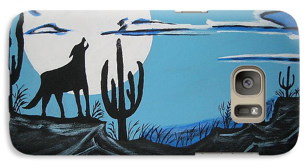 Galaxy Case featuring the painting Coyote by Jeffrey Koss