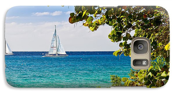 Galaxy Case featuring the photograph Cozumel Sailboats by Mitchell R Grosky