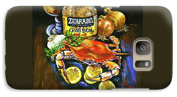 Galaxy Case featuring the painting Crab Fixin's by Dianne Parks