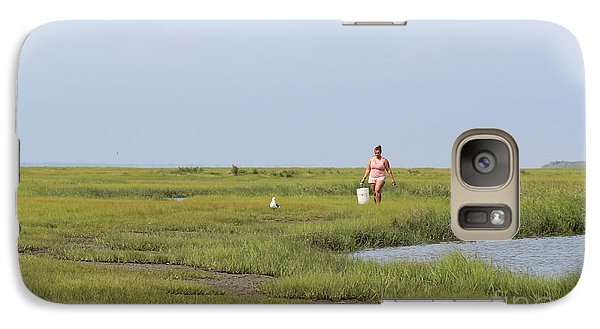 Galaxy Case featuring the photograph Crabbing At Mystic Island by David Jackson