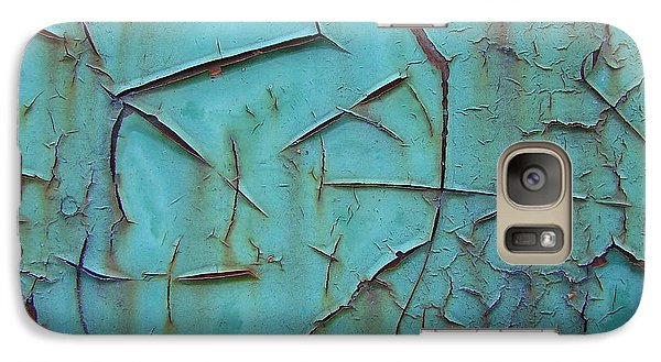 Galaxy Case featuring the photograph Crackled Rust by Ramona Johnston