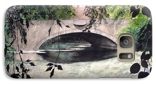 Galaxy Case featuring the painting Craddock Bridge Down Under by June Holwell