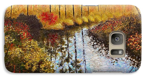 Galaxy Case featuring the painting Cranberry Bog by Jason Williamson