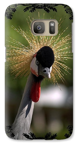 Galaxy Case featuring the photograph Crane by Athala Carole Bruckner
