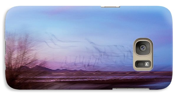 Galaxy Case featuring the photograph Crane Dance by Beverly Parks