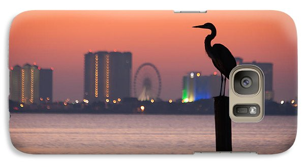 Galaxy Case featuring the photograph Crane On A Pier by Tim Stanley