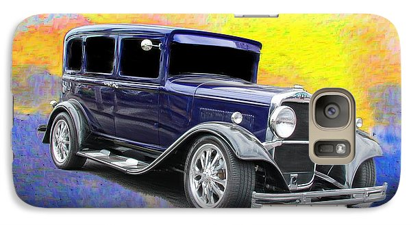 Vintage Car Galaxy Case featuring the photograph Crank It  by Aaron Berg