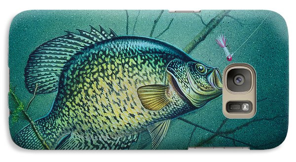 Galaxy Case featuring the painting Crappie And Pink Jig by Jon Q Wright