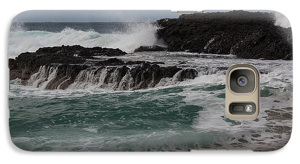 Galaxy Case featuring the photograph Crashing Surf by Suzanne Luft