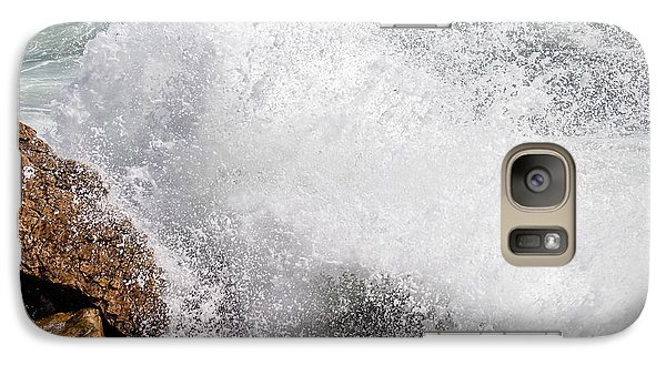 Galaxy Case featuring the photograph Crashing Wave Acadia  by Trace Kittrell