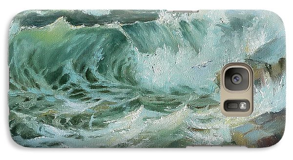 Galaxy Case featuring the painting Crashing Waves by Lori Ippolito