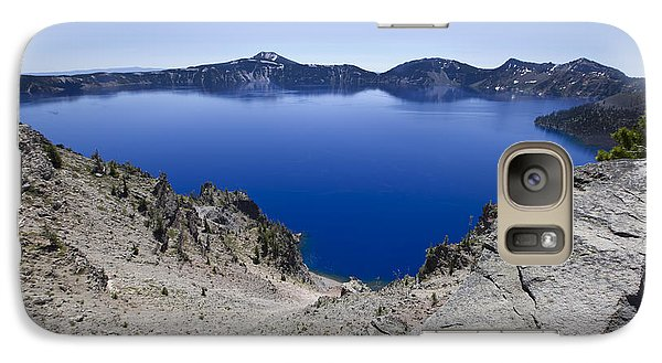 Galaxy Case featuring the photograph Crater Lake by David Millenheft