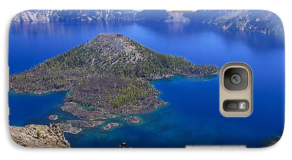 Galaxy Case featuring the photograph Crater Lake Panorama 090914a by Todd Kreuter