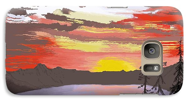 Galaxy Case featuring the digital art Crater Lake by Terry Frederick