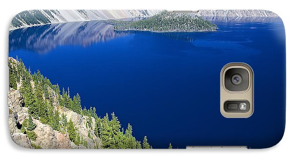 Galaxy Case featuring the photograph Crater Lake Wizard Island 090910a by Todd Kreuter