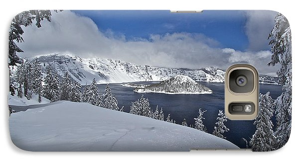 Galaxy Case featuring the photograph Crater Lake/ Wizard Island by Todd Kreuter