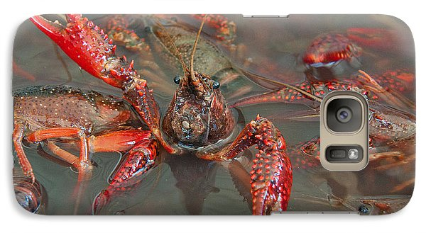 Galaxy Case featuring the photograph Crawfish Boil Galveston Style by John Black
