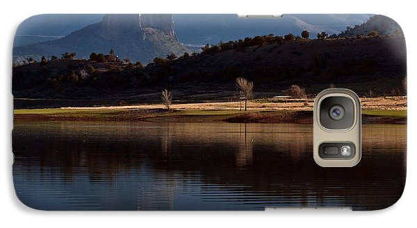 Galaxy Case featuring the photograph Crawford Reservoir And Needlrock by Eric Rundle
