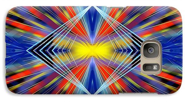 Galaxy Case featuring the digital art Crazy by Brian Johnson
