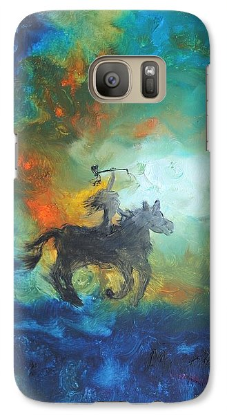 Galaxy Case featuring the painting Crazy Horse by Ayasha Loya