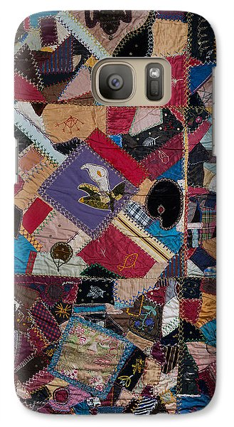 Galaxy Case featuring the painting Crazy Quilt by Izabella West