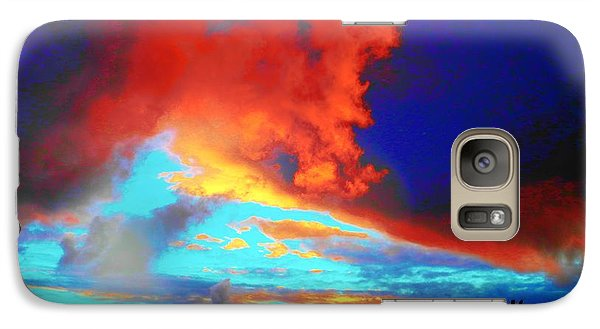 Galaxy Case featuring the photograph Strange Sunset by Mark Blauhoefer