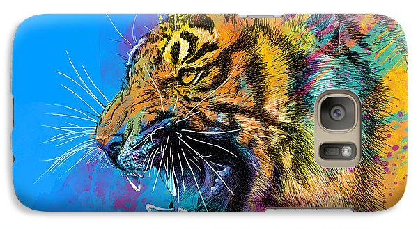 Animals Galaxy S7 Case - Crazy Tiger by Olga Shvartsur