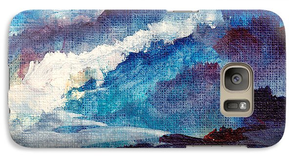 Galaxy Case featuring the painting Creation by Kathy Bassett