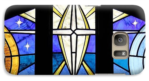 Galaxy Case featuring the glass art Creation Of The Stars by Gilroy Stained Glass