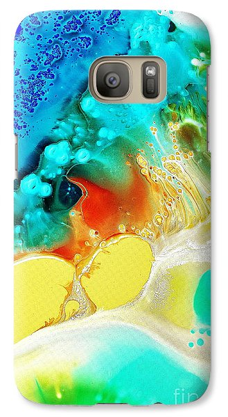 Galaxy Case featuring the painting Creation Wave by Christine Ricker Brandt