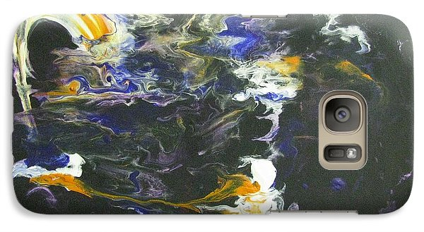 Galaxy Case featuring the painting Creative Mind by Riana Van Staden