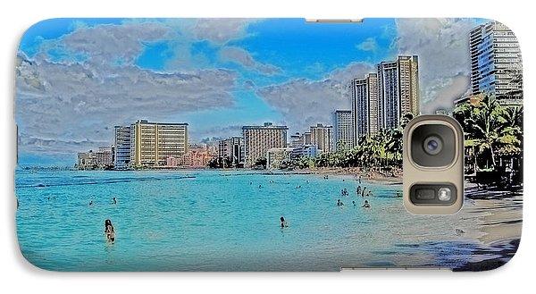 Galaxy Case featuring the photograph Creative Waikiki by Caroline Stella