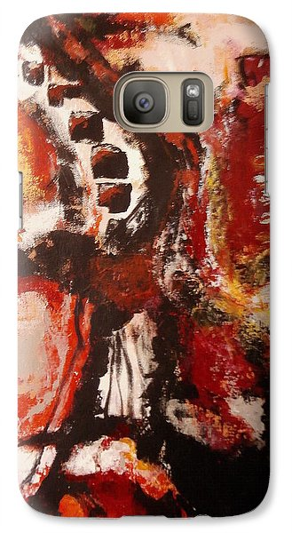 Galaxy Case featuring the painting Creature Feature by Buck Buchheister
