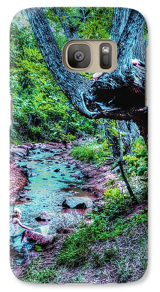 Galaxy Case featuring the photograph Creek Time Enchantment by Lanita Williams