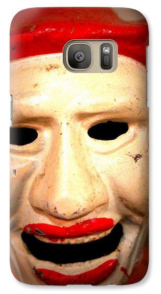 Galaxy Case featuring the photograph Creepy Clown by Lynn Sprowl