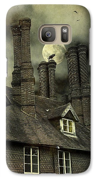 Galaxy Case featuring the photograph Creepy Old House With Tall Chimney's by Ethiriel  Photography