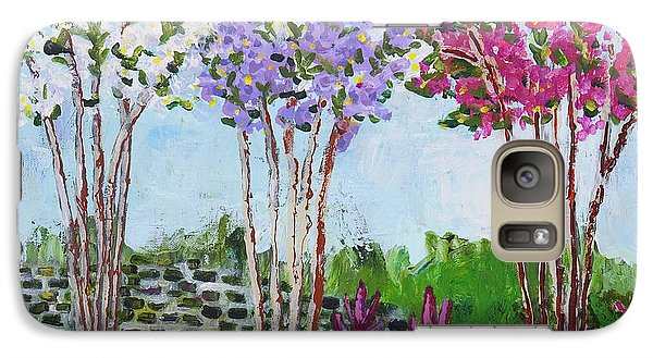 Galaxy Case featuring the painting Crepe Myrtles by Angela Annas