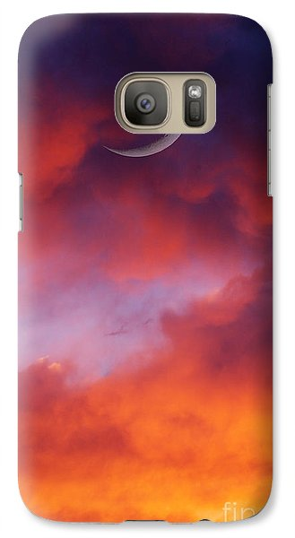Galaxy Case featuring the photograph Crescent Moon In Purple by Joseph J Stevens
