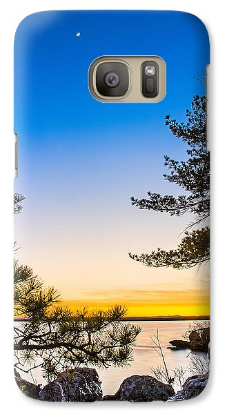 Crescent Moon Sunset Galaxy S7 Case