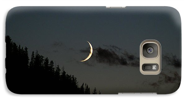 Galaxy Case featuring the photograph Crescent Silhouette by Jeremy Rhoades