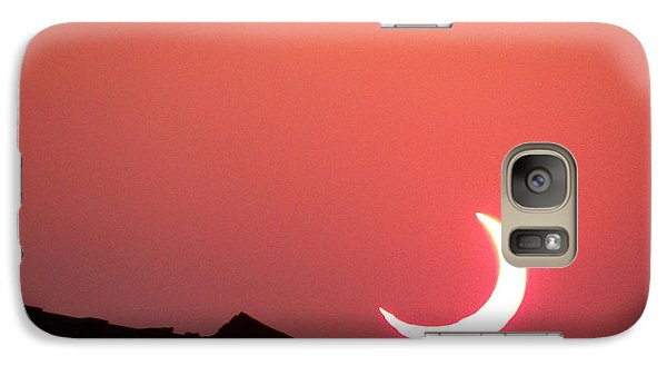 Galaxy Case featuring the photograph Crescent Sunset by Tom DiFrancesca