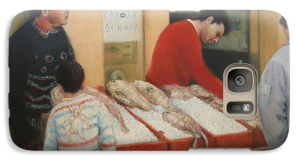 Galaxy Case featuring the painting Crete Fish Market by Donelli  DiMaria