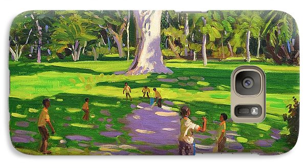 Cricket Galaxy S7 Case - Cricket Match St George Granada by Andrew Macara